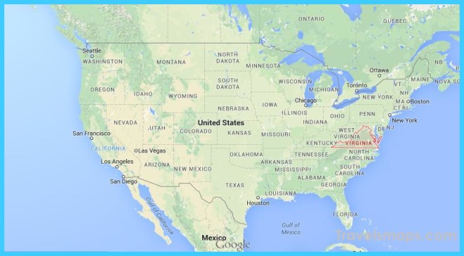 Where is Virginia on USA map