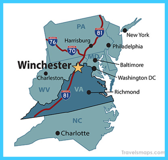 Map & Directions - Visit Winchester Virginia