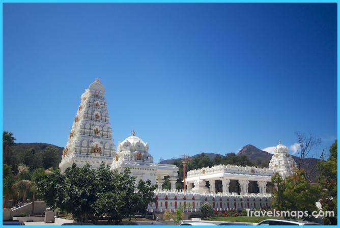 Malibu Hindu Temple: Largest on the West Coast - California Through ...
