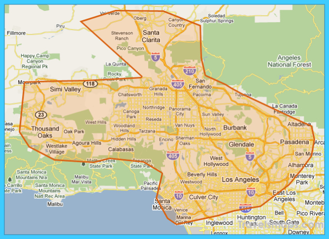 City Of Calabasas Map Travelsmaps Com