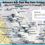 Delaware Bay Fishing Map and Fishing Spots