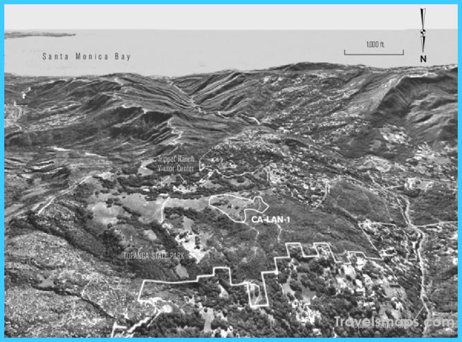 Map showing boundary of CA-LAN-1 within Topanga State Park ...