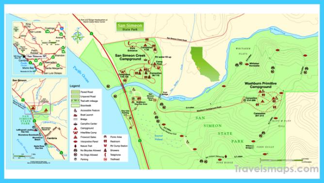 San Simeon State Park Map - San Simeon State Park Cambria CA • mappery