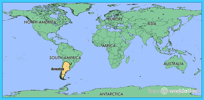 Where is Argentina? - Argentina Map - Map of Argentina - TravelsMaps ...