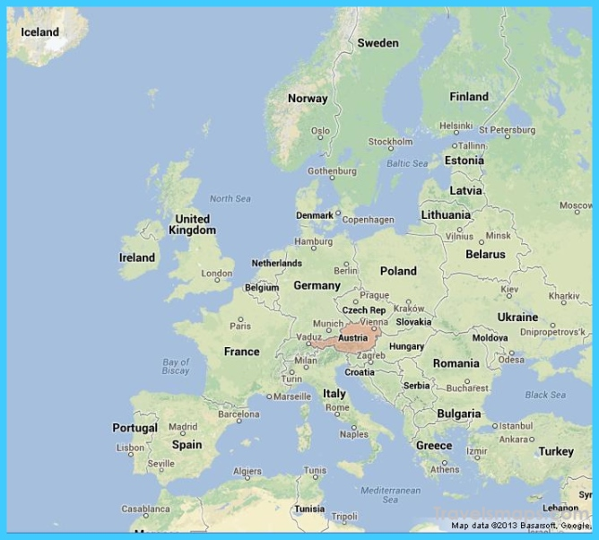 where is austria on a map Where Is Austria Austria Map Map Of Austria Travelsmaps Com where is austria on a map