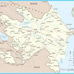 Map of Azerbaijan - Asia