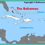 The Bahamas location on the Caribbean map