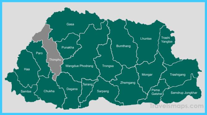 Where Is Bhutan Bhutan Map Map Of Bhutan Travelsmaps Com