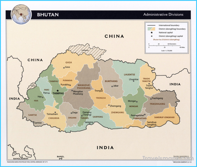Where is Bhutan? - Bhutan Map - Map of Bhutan - TravelsMaps ...