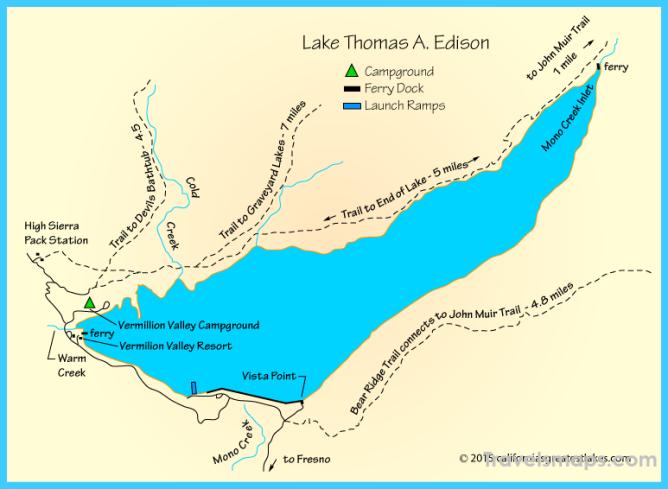 Lake Thomas A. Edison Map