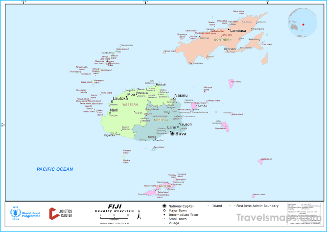 Where is Fiji?   Fiji Map   Map of Fiji - TravelsMaps.Com ®