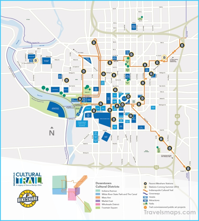 Downtown Indianapolis Map on