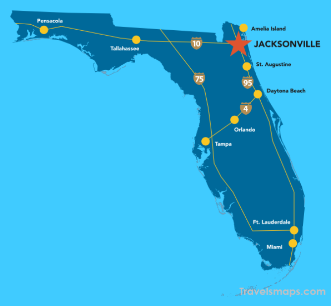 Florida Map Jacksonville.Where Is Jacksonville Jacksonville Map Map Of Jacksonville