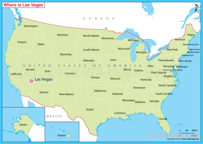 Las Vegas World Map