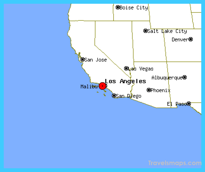 Los Angeles Map Location.Where Is Malibu California Malibu California Map Location