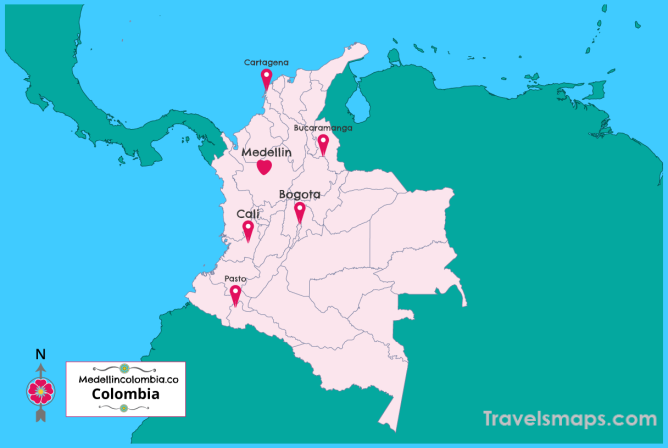 Where is Medellin Colombia? | Medellin Colombia Map | Map of Medellin Colombia