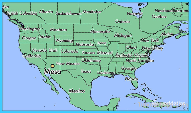 Where is Mesa? | Mesa Map | Map of Mesa - TravelsMaps.Com ®