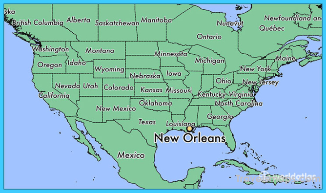 map to new orleans Where Is New Orleans New Orleans Map Map Of New Orleans map to new orleans