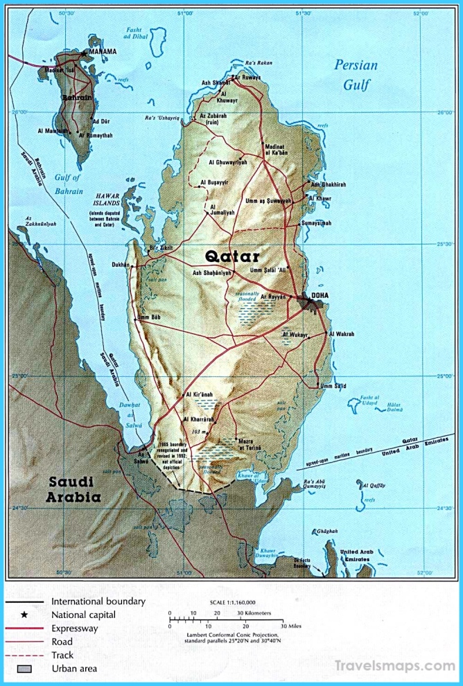 Where is Qatar? | Qatar Map | Map of Qatar - TravelsMaps.Com ®