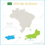 Brazil Rio De Janeiro State City Brazil Map Vector Royalty Free ...