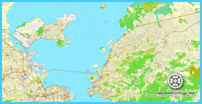 Rio de Janeiro, Brazil, printable vector street map, Exact City Plan ...