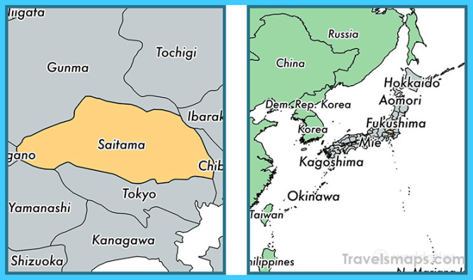 Saitama Japan Map Download Archives - TravelsMaps.Com ®