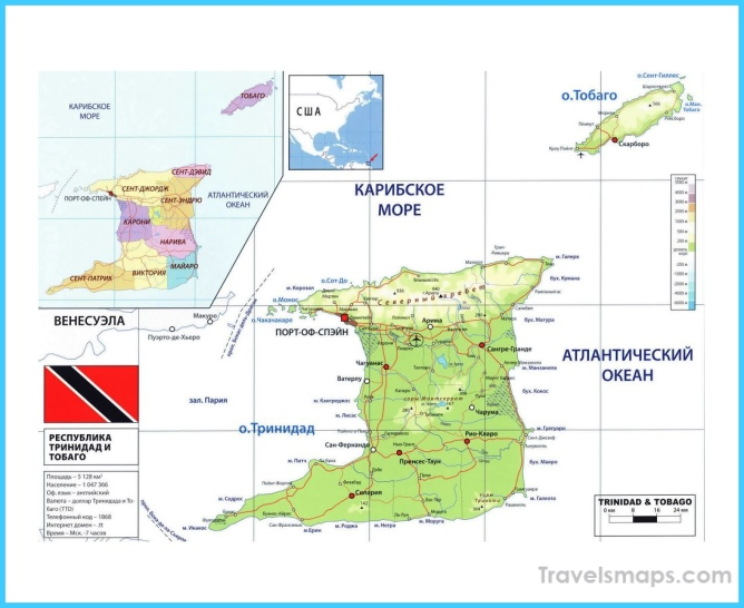 Maps of Trinidad and Tobago | Collection of maps of Trinidad and