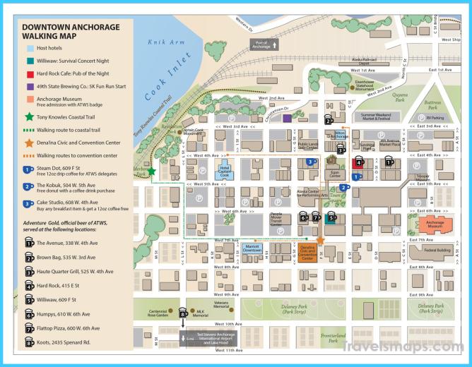 Anchorage Walking Map   Adventure Travel Trade Association