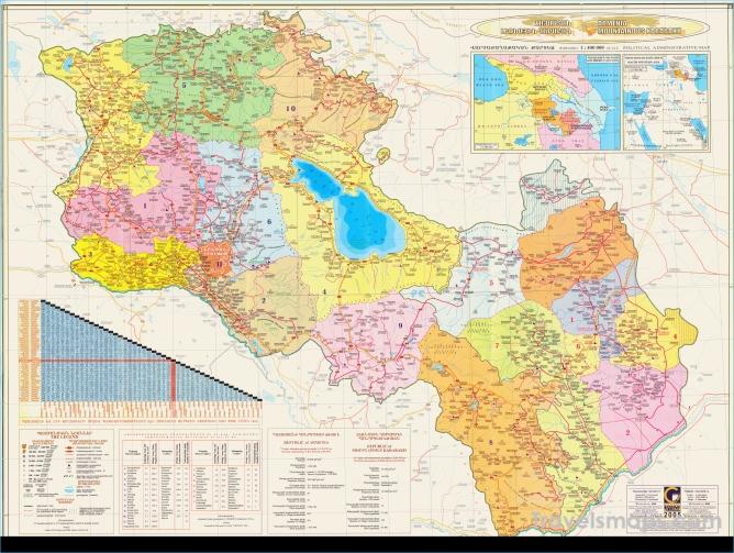Large Maps of Karabakh, Armenia and South Caucasus