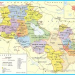 Maps of Armenia   Detailed map of Armenia in English