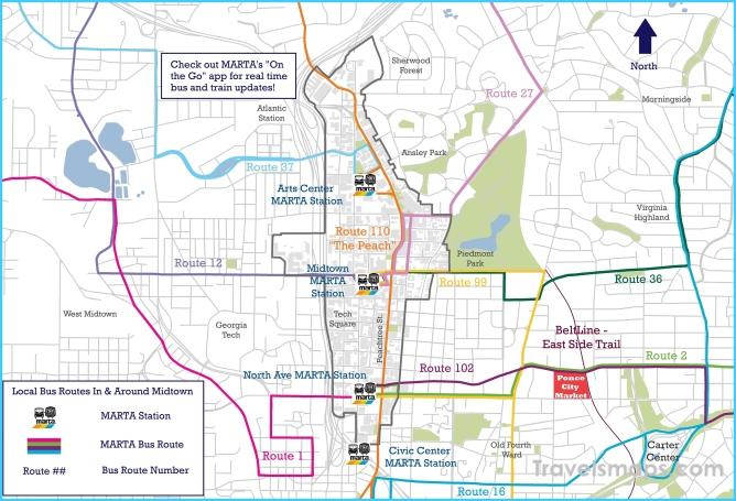 MARTA Bus Routes Maps