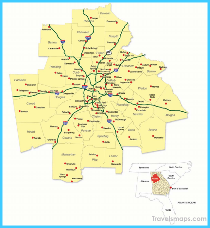 Metro Atlanta Regional Map