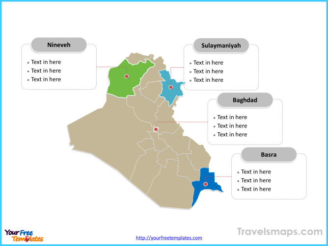 Free Iraq Editable Map - Free PowerPoint Templates