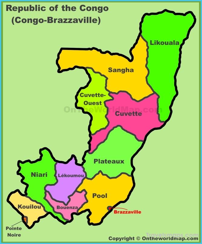 Republic of the Congo Maps | Maps of Congo-Brazzaville