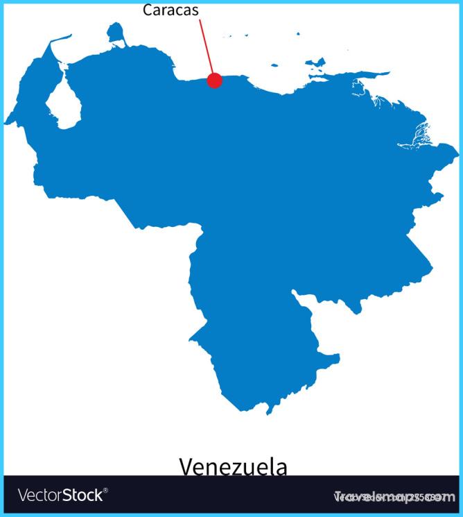 Detailed map of Venezuela and capital city Caracas