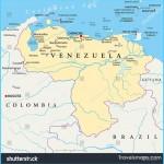 Venezuela Political Map Capital Caracas National Stock Vector