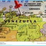 Venezuela Map, Red Pin On Caracas Stock Illustration - Illustration