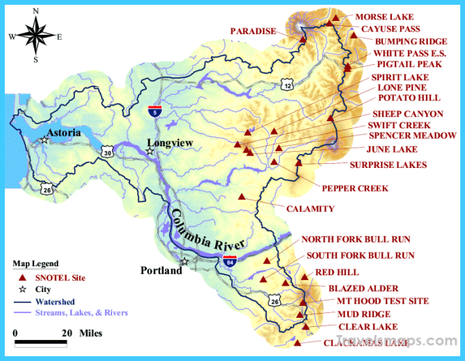 Lower Columbia Basin Map