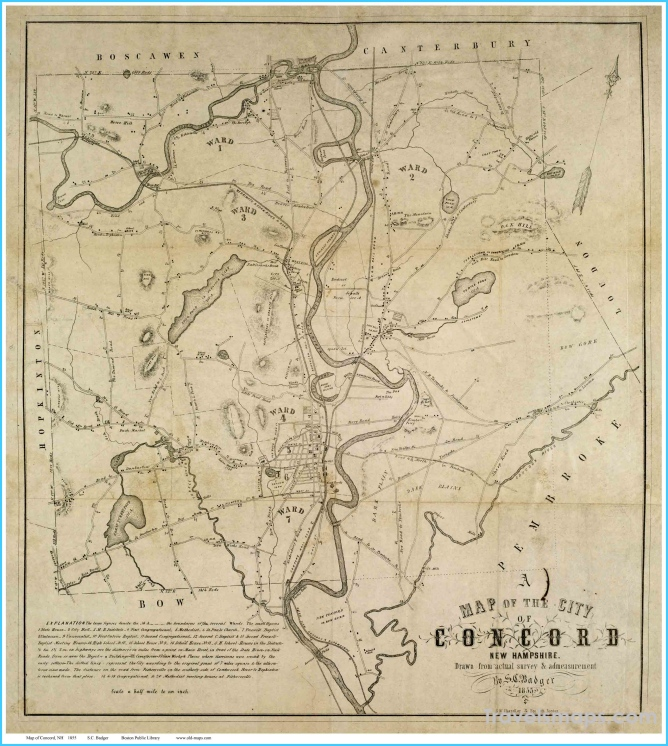 Old maps of Concord