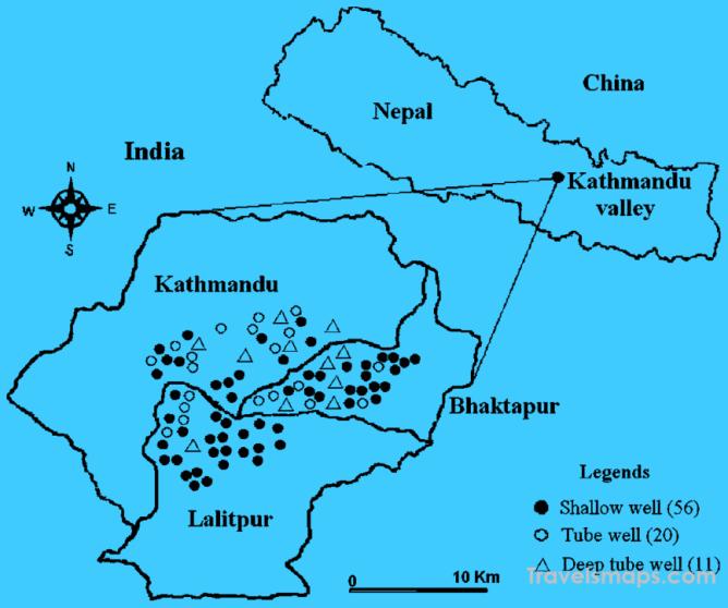 Where Is Kathmandu Nepal Kathmandu Nepal Map Map Of Kathmandu