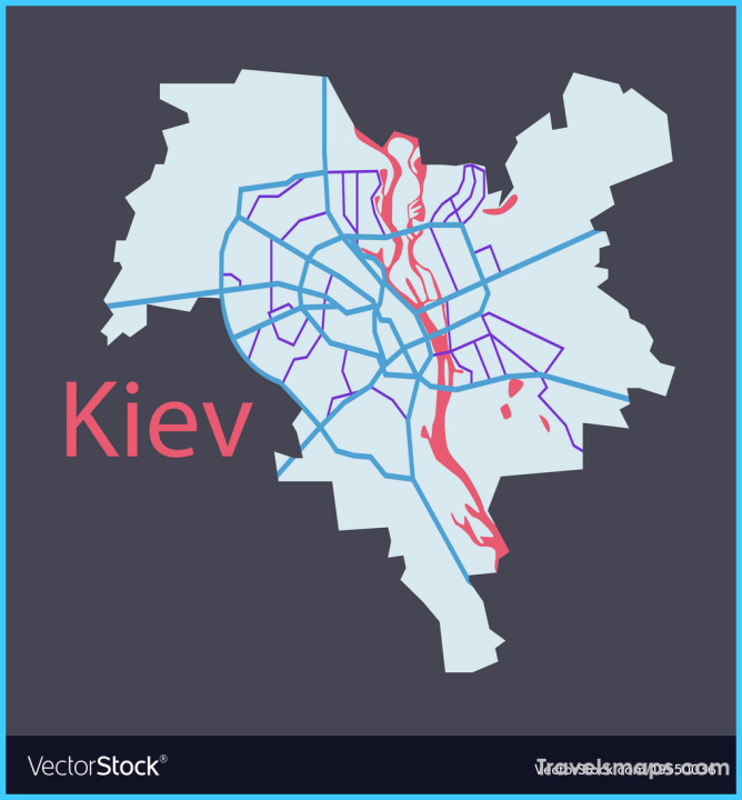 Map of the districts of kiev ukraine flat Vector Image