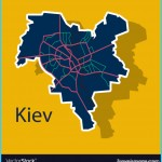 Map of the districts of kiev ukraine sticker Vector Image