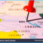 Pin marking Kiev, on Ukraine map (Kiev is the location city of the