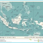 Indonesia Map - Vintage Vector Illustration Stock Illustration