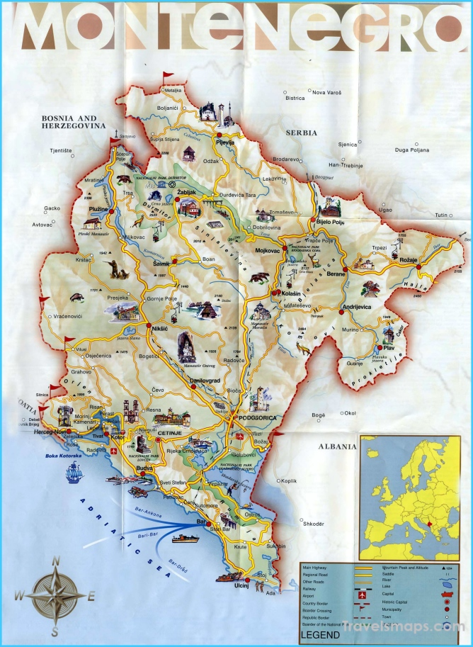 Montenegro Maps | Printable Maps of Montenegro for Download