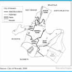 Reference map of Newark wards