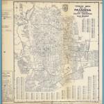Thomas Bros. Map of Pasadena, Altadena, South Pasadena and San