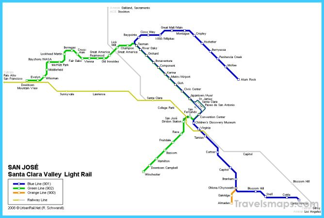 San Jose Subway Map for Download