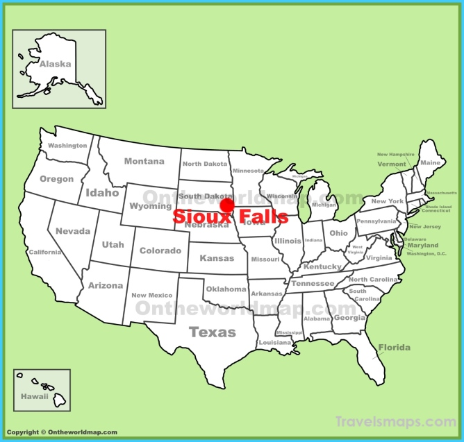 Where is Sioux Falls? - Sioux Falls Map - Map of Sioux Falls ...