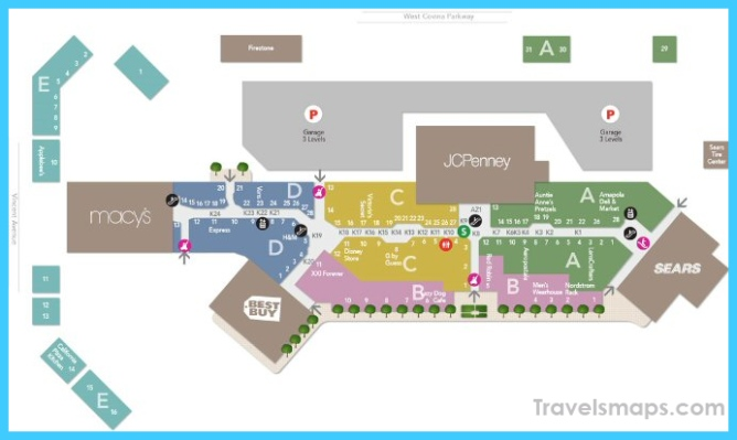Map for Plaza West Covina Map, West Covina